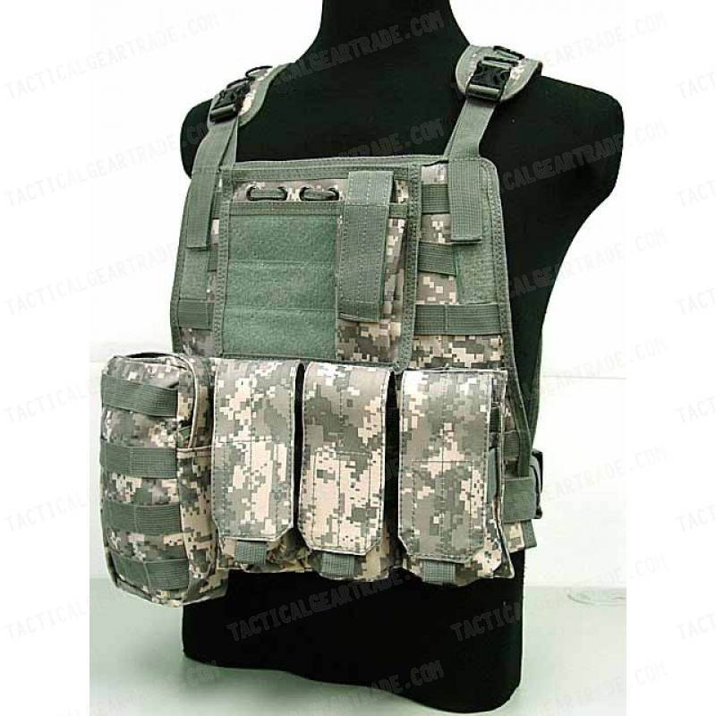 Digital ACU Camo Paintball Tactical Vest 6+1