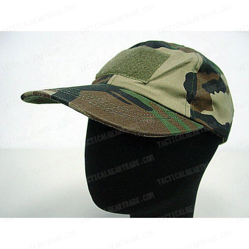 Velcro Patch Baseball Hat Cap Camo Woodland