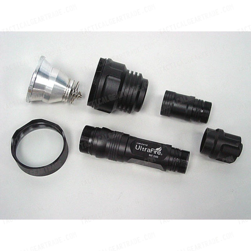 UltraFire WF-500 3x P4 CREE LED Flashlight w/Battery & Charger