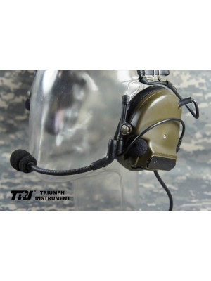 TRI COMTAC III Dual Com Noise Reduction Headset For TRI / Real Mil-Spec PTT With CB Color