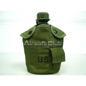 1Qt Canteen Water Bottle w/Pouch & Cup OD