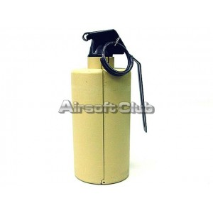 SY Gas Powered Flash Bang Hand Metal Grenade Tan SY858