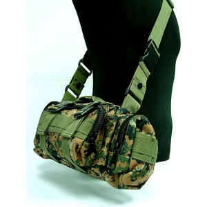 Molle Utility Shoulder Waist Pouch Bag Digital Camo Woodland