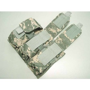 Airsoft Molle Triple Magazine Pouch Digital ACU Camo