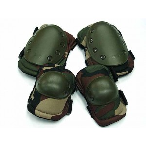 Tactical Knee & Elbow Pads Camo Woodland
