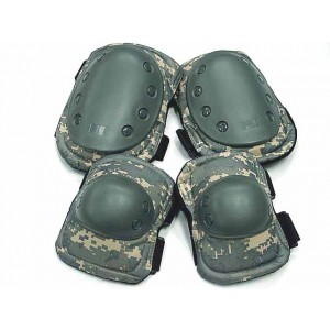Tactical Knee & Elbow Pads Digital ACU Camo