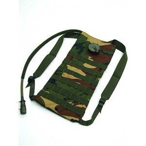 Molle 3L Hydration Water Backpack Camo Woodland