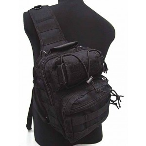 Tactical Utility Gear Shoulder Sling Bag Black M
