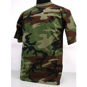 Camouflage Short Sleeve T-Shirt Camo Woodland