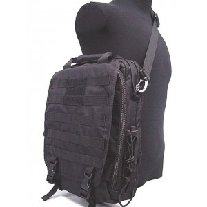 Molle Utility Shoulder Bag Notebook Case Black