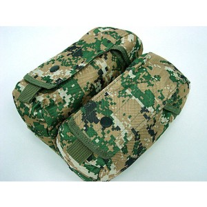 Airsoft Molle Double AK Magazine Pouch Digital Camo Woodland