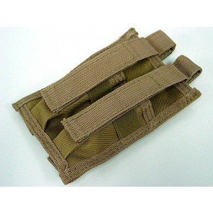 Molle Double Pistol Magazine Pouch Coyote Brown