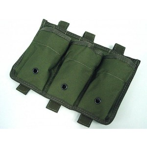 Airsoft Molle Triple Magazine Open Top Pouch OD