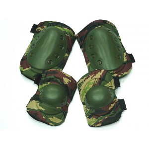 Tactical Knee & Elbow Pads British Camo Woodland