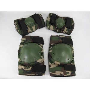 SWAT Special Force Knee & Elbow Pads Camo Woodland