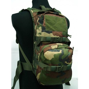Tactical Utility Molle 3L Hydration Water Backpack Camo Woodland