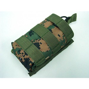 Molle Open Top Magazine/Walkie Talkie Pouch Digital Woodland