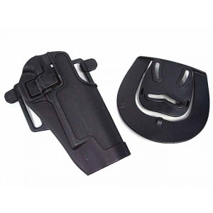 CQC Tactical Colt 1911 M1911 RH Pistol Paddle & Belt Holster BK