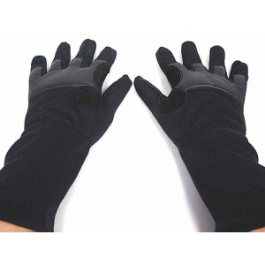 Airsoft Mid Arm Full Finger Tactical Flight Gloves Black