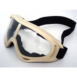 Airsoft UV-X400 Wind Dust Tactical Goggle Glasses Tan
