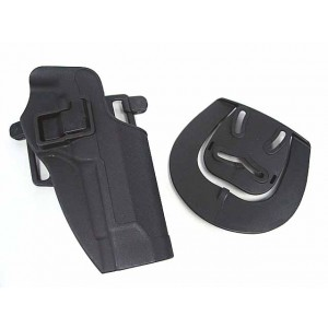 CQC Tactical Beretta 92/96 RH Pistol Paddle & Belt Holster BK