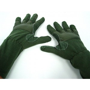 Airsoft Mid Arm Full Finger Tactical Flight Gloves OD