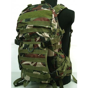 Tactical Molle Patrol Rifle Gear Backpack Camo Woodland