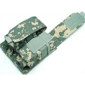 Airsoft Molle Double Magazine Pouch Digital ACU Camo