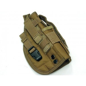 STRIKE Molle Combat Pistol Belt RH Holster Coyote Brown
