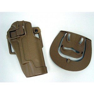 CQC Tactical Colt 1911 M1911 RH Pistol Paddle & Belt Holster Tan