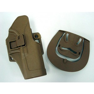CQC Tactical GLOCK 17/22/31 RH Pistol Paddle & Belt Holster Tan