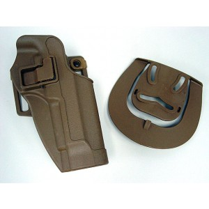CQC Tactical Beretta 92/96 RH Pistol Paddle & Belt Holster Tan