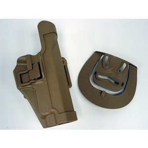 CQC Tactical SIG P220/P226 RH Pistol Paddle & Belt Holster Tan