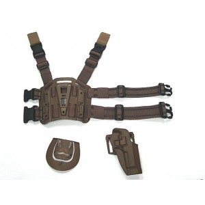 CQC Beretta 92/96 RH Pistol Paddle & Belt Drop Leg Holster Tan