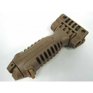 Tactical 20mm RIS Spring Total Bipod Foregrip Grip Tan