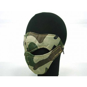 Modular Half Face Protector Mouth Mask Camo Woodland