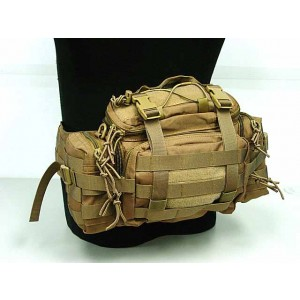 Molle Utility Gear Assault Waist Pouch Bag Coyote Brown