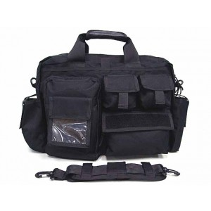 Airsoft Utility Briefcase Shoulder Bag Black