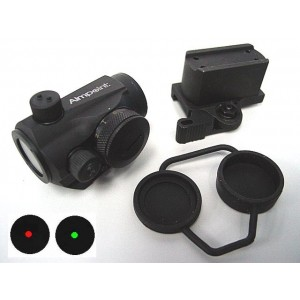 1x24 Micro T-1 Red/Green Dot Sight Scope w/QD High Mount