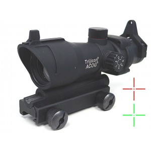 ACOG Type TA01NSN 1x30 Red/Green Dot Sight Cross Reticle Scope