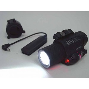 M6X CREE LED Flashlight & Red Laser w/ IR Infrared Filter Black