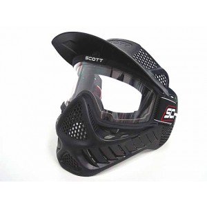Full Face Airsoft Paintball Goggle Clear Lens Mask BK Type B