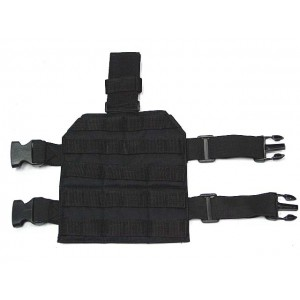 Airsoft Molle Drop Leg Panel Platform Black