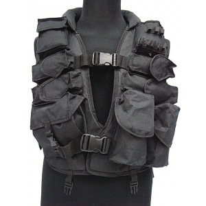 Tactical Airsoft SAS Paintball Hunting Assault Vest BK