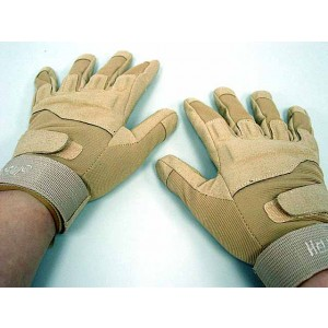 Special Operation Tactical Full Finger Assault Gloves Tan