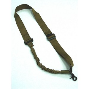 Elastic Bungee Snap Hook CQB Rifle Sling Coyote Brown