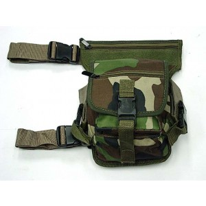 Drop Leg Utility Waist Pouch Carrier Bag Camo Woodland
