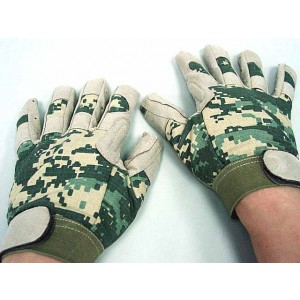 Full Finger Light Weight Duty Gloves Digital ACU Camo