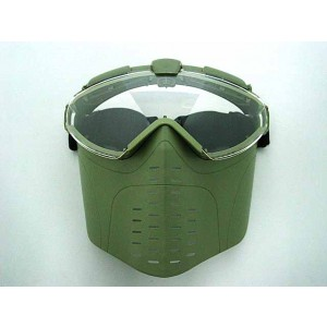 BATTLEAXE Pro-Goggle Full Face Mask with Fan OD