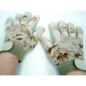 Full Finger Light Weight Duty Gloves Digital Desert Camo